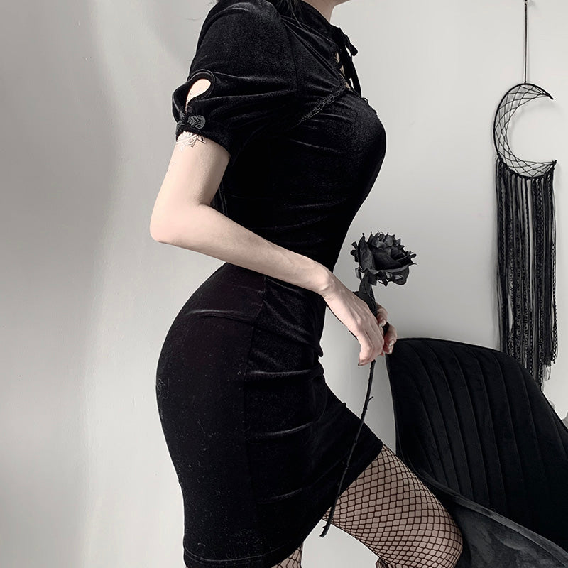 Dark retro dress YV42896