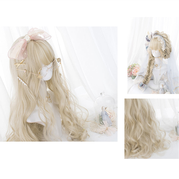 Wave roll long curly hair wig YV41089