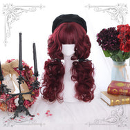 Daily Lolita Red Medium Long Curly Hair YV42779