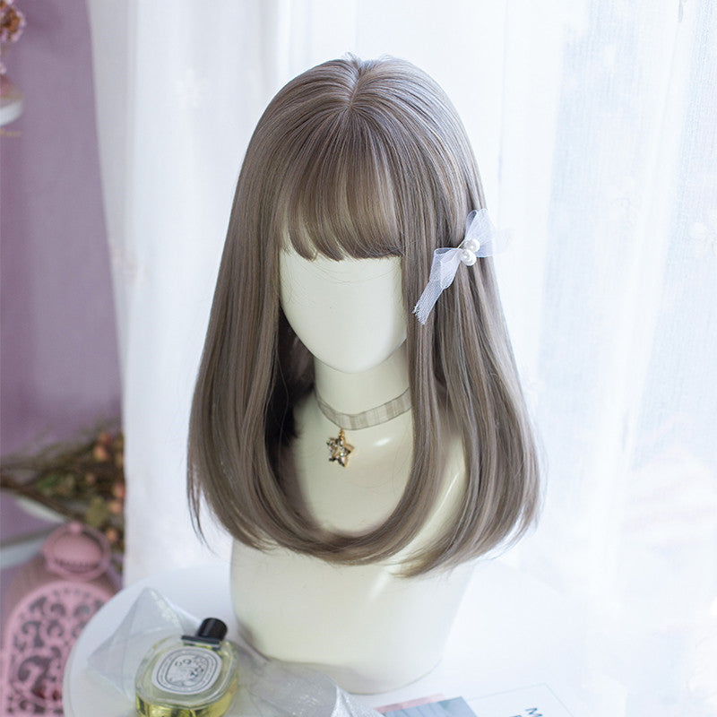 Lolita Medium Length Straight Hair Wig YV43696