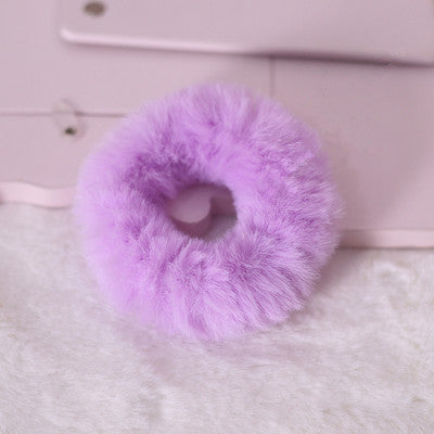 Cute rabbit plush hair ring (two pieces) yv42836