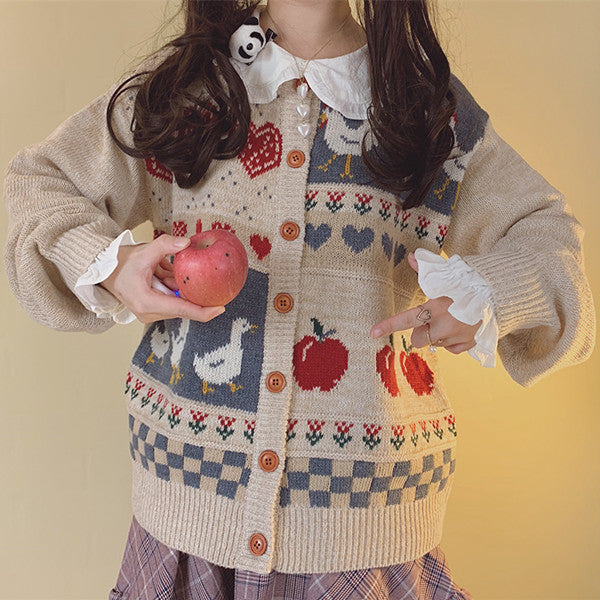 Japanese children's vintage retro cardigan YV40814