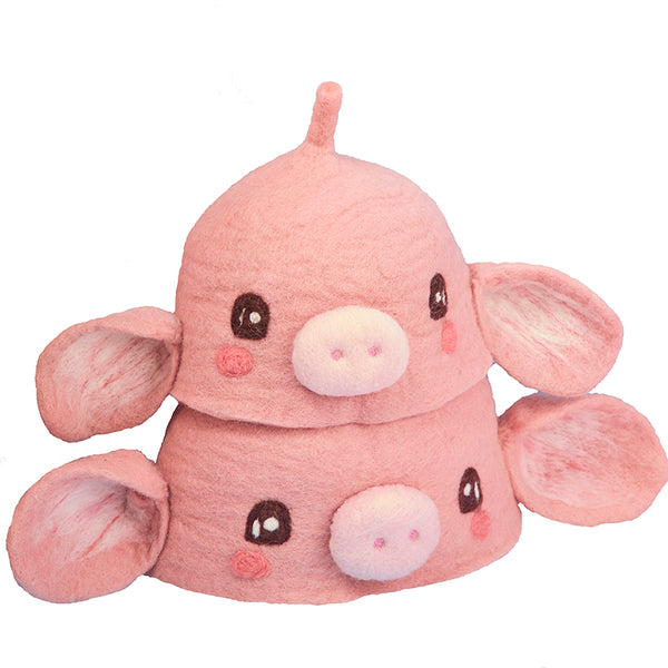 Cute pink pig fisherman hat YV42944