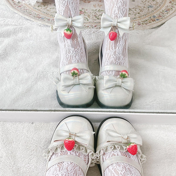 Lolita bow strawberry shoes yv42775