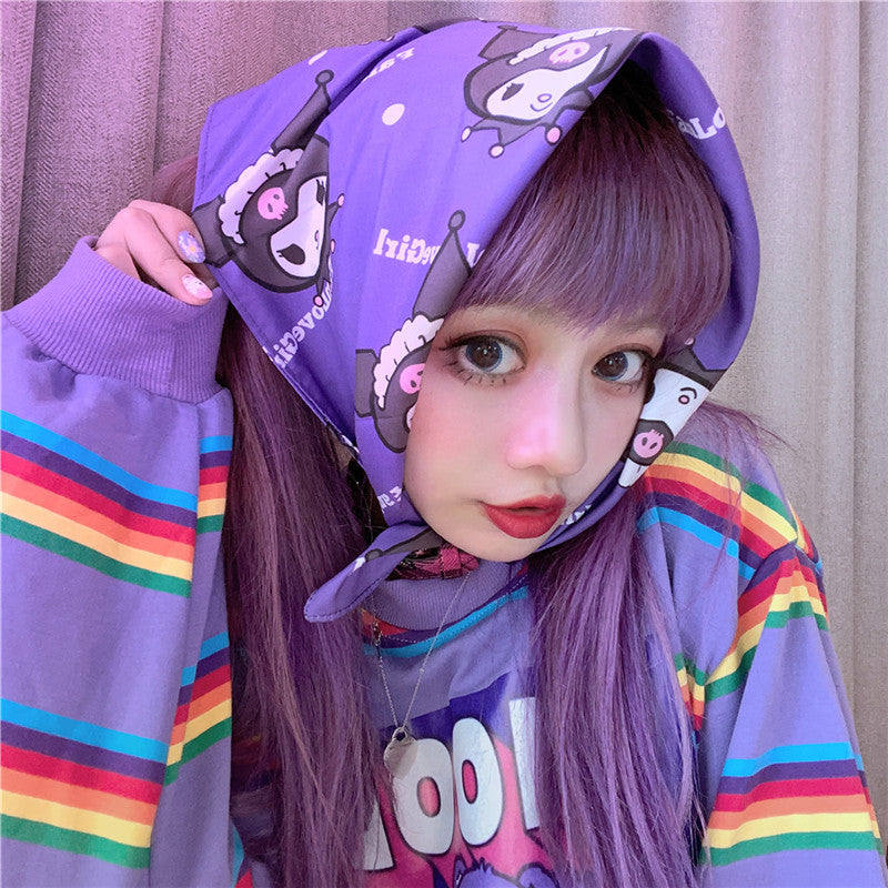 Cartoon print headscarf YV43638