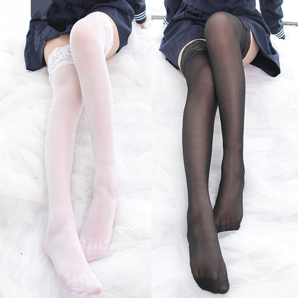 Japanese lace high stockings YV42213