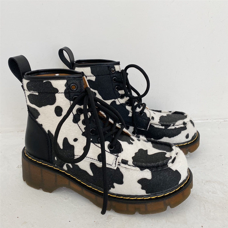 Cute Cow Martin Boots YV43653