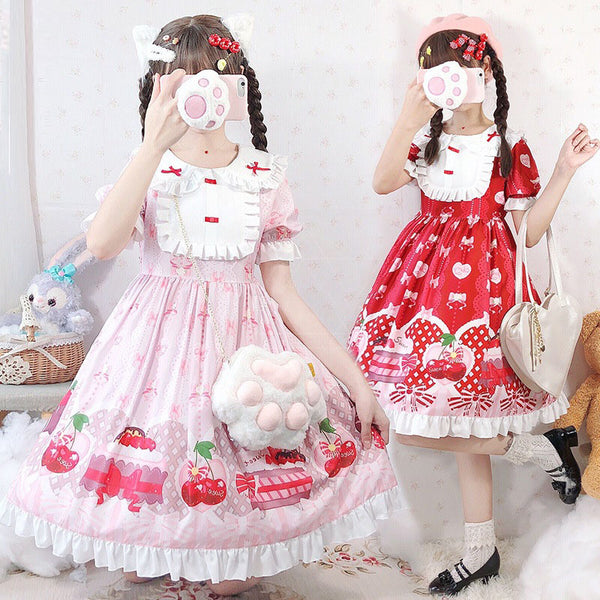 lolita strawberry skirt YV42964