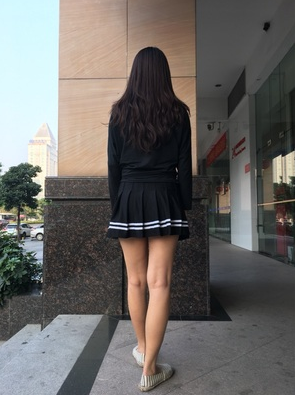 Korean version of the wild pleated skirt YV232