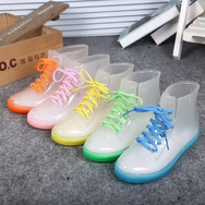 Candy Color Transparent Rain Boots YV2049