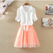 Sweet short Sleeve Two-piece Dress Set YV2068