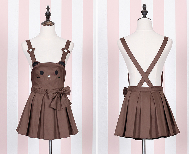 Cute bear strap skirt and rabbit strap pumpkin trousers YV104