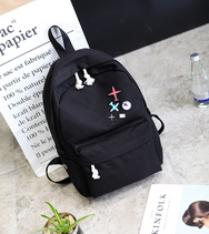 Harajuku college canvas shoulder bag