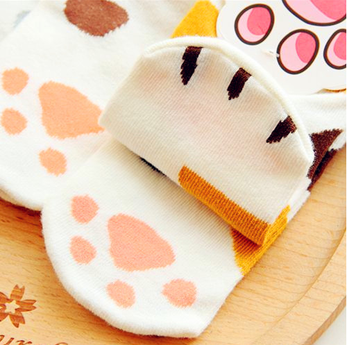 Kawaii Neko/Cat Socks three pairs YV2083