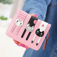 Zipper cute cat wallet YV1283