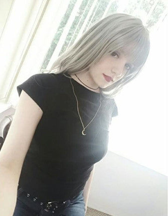 Review for Lolita Air Bang Gradient Grey Wigs YV125