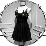 Cute cat embroidery dress skirt YV2090