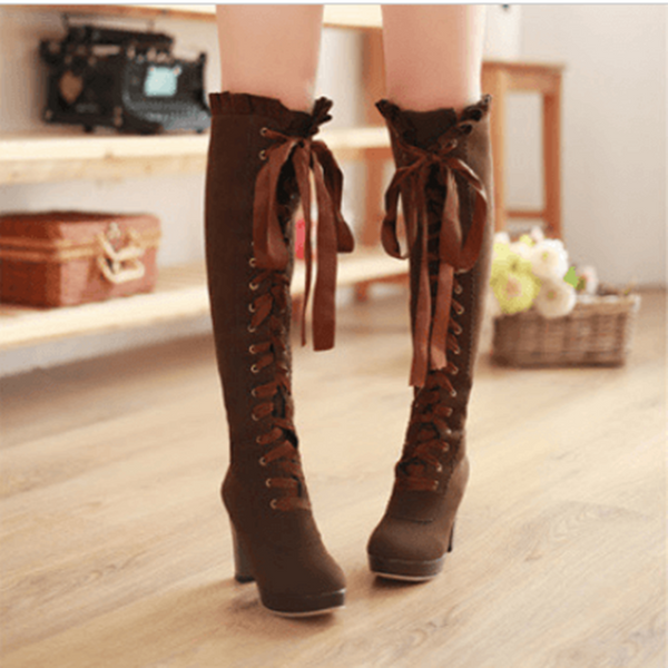 Jfashion Thigh High Boots Over The Knee Boots YV2120
