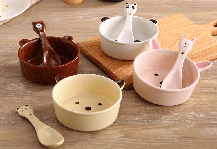 Cartoon Salad Bowl Dessert Bowl Student Bowl YV2128