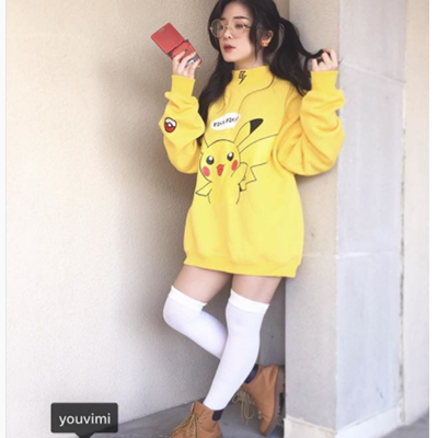 Review For Lovely Pikachu Turtleneck Winter Hoodies Jacket