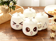 Creative ceramic cute expression cup YV435