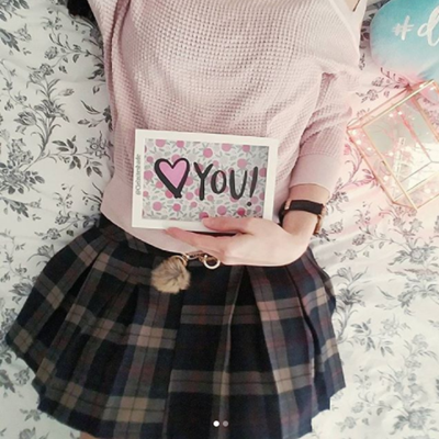 REVIEW FOR KOREAN STUDENT WINTER WOOLEN SKIRT YV2329