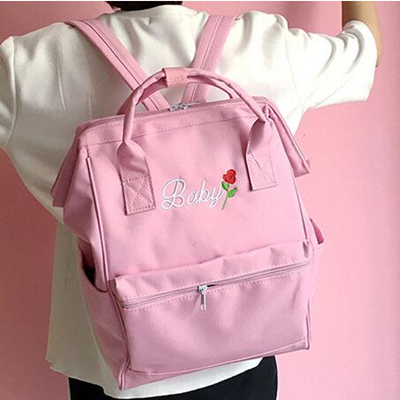 Japanese baby rose backpack yv516