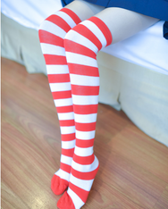 High tube stripe knee socks YV40021