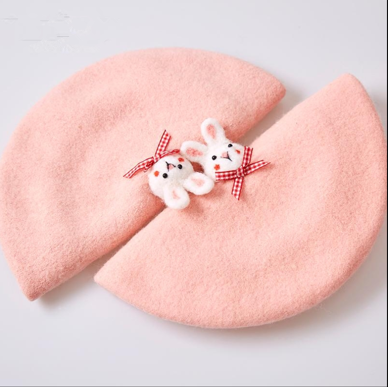 Cute little rabbit top beret  hat YV40035