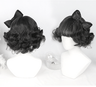 Mushroom Short Curly Bow Cute Wig YV40068