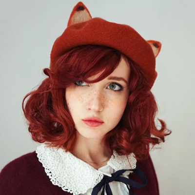 Review for Youvimi the fox ears berets yv2012