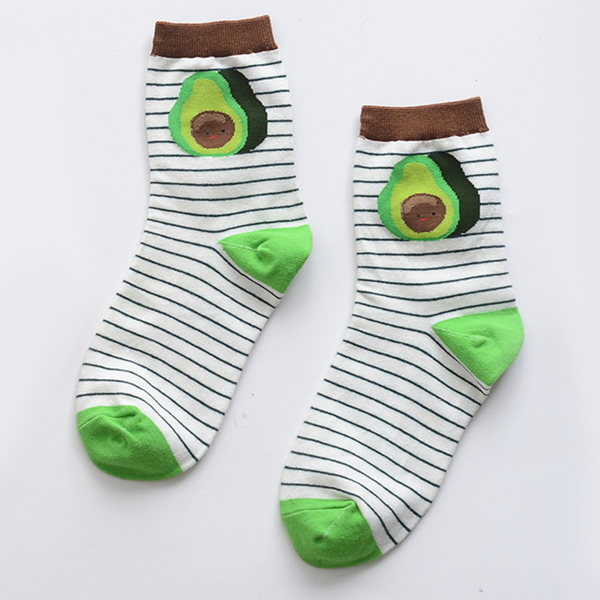 Cute fruit cotton socks (Three pairs) YV40097