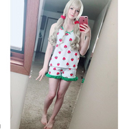 REVIEW FOR Kawaii strawberry condole belt pajamas suits + eye mask YV17014