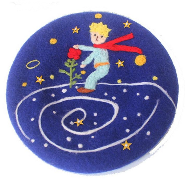 Little prince and rose cute beret YV40103