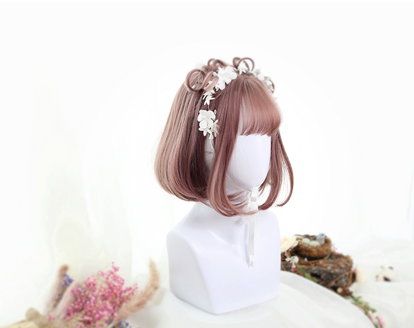 Cute double ponytail curly wig YV40106