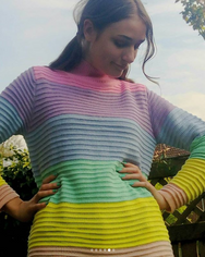 REVIEW FOR RAINBOW KNIT HIGH NECK SWEATER YV2364