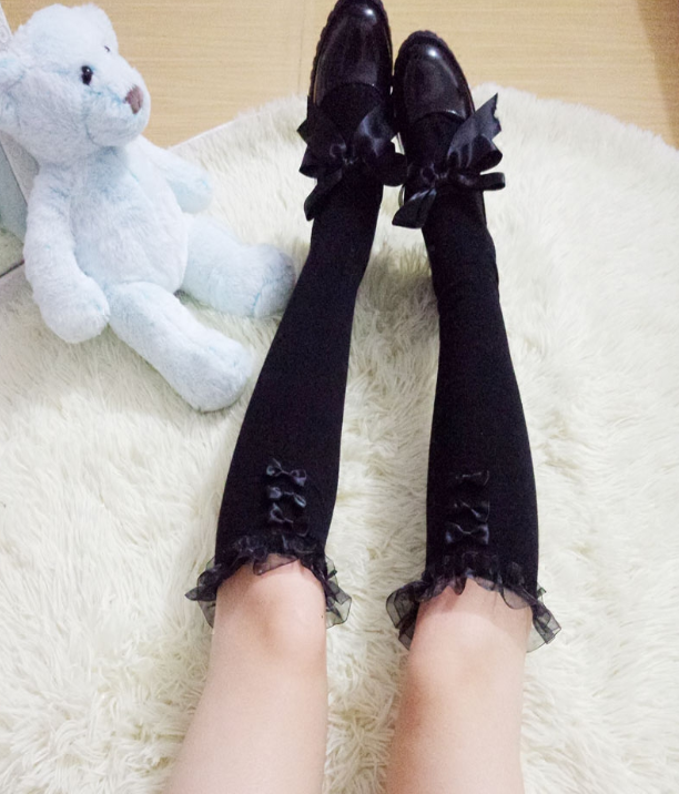Lace Bow Tube Socks YV40129