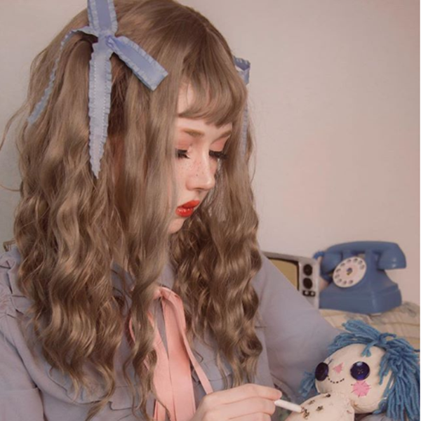 Review For Lolita Fashion Linen Gray Wig YV2451