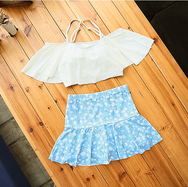 Cute small floral two-piece swimsuit YV40176