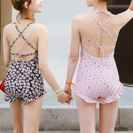 Small Floral Backless One Piece Swimsuit YV40177