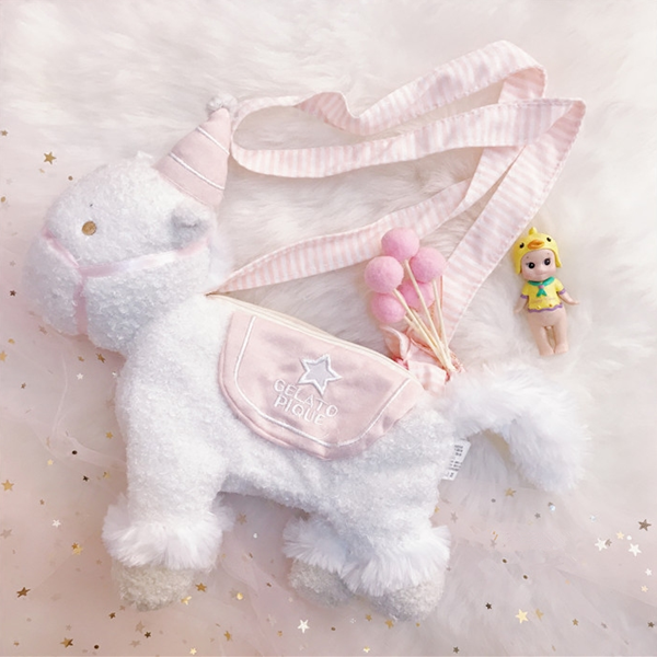 Cute plush unicorn bag yv40188