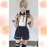 Review For  Detachable Suspender Skirt/Shorts/T-Shirt YV18062