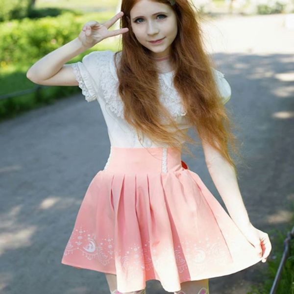 Review For Sweet Cute Japanese Skirt YV426