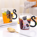 Cute cat glass cup YV40260