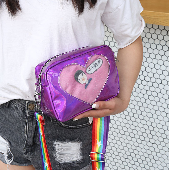 Laser Heart Rainbow Shoulder Bag YV40263