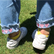 Review For Kawaii Heart/Strawberry Loose Jean Yv5087