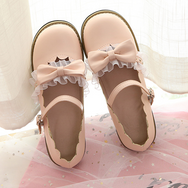 Japanese lolita bow lace shoes YV40283