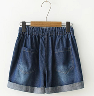 Japanese cat denim shorts YV40308