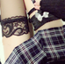 Cute plaid short skirt YV40345