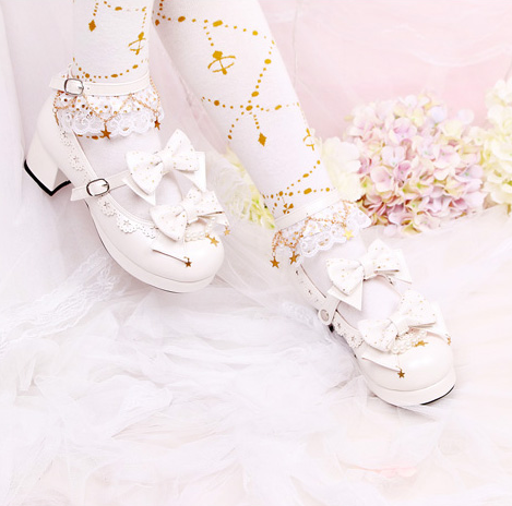 Japanese stars lolita bow shoes YV40348